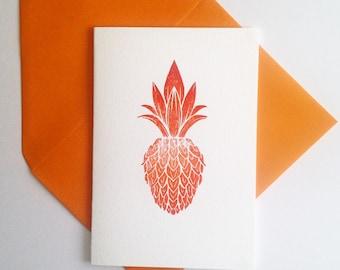 Pineapple, Letterpress Card