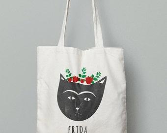Frida Kahlo (Catlo) tote bag