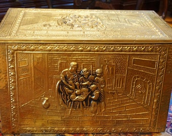 Brass Relief Box