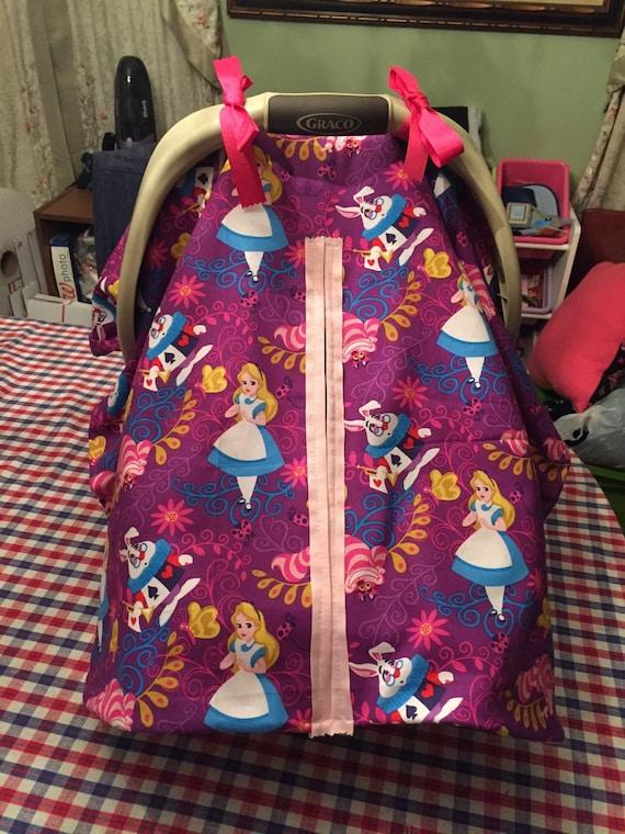 Handmade Alice In Wonderland Baby Car Seat Cover