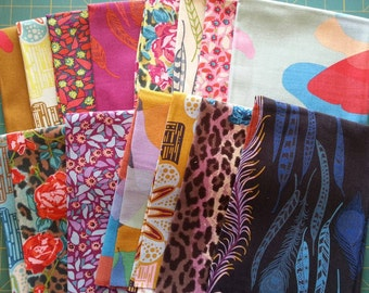 Full Collection 15 Fat Quarter Bundle of Field Study Linen by Anna Maria Horner for Free Spirit, OOP and VHTF