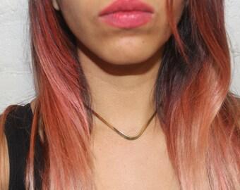 BRASS V CHOKER necklace