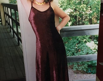 Long Velvet Dress Vintage 90's Black Spaghetti Strap Italian Velvet Joanna Trojer Old Stock Maxi Dress with Bra Black Elegant Evening