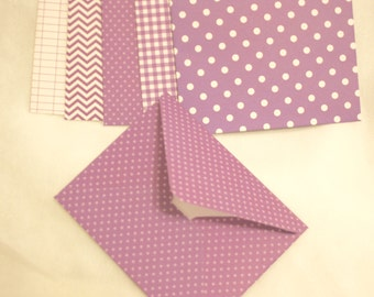 Handmade Envelope - All Purple