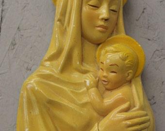 1955 Miller Studio Chalkware Madonna and Child