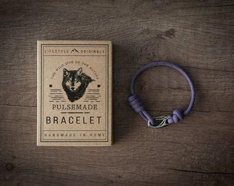 Men's bracelet-Lilac woman unisex Paracord 550-Pulsemade Slim Collection-Handmade paracord lilac bracelet Mens/Womens