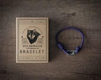 Men's bracelet-Purple woman unisex Paracord 550-Pulsemade Slim collection-Handmade paracord bracelet Purple Mens/Womens