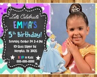 CINDERELLA Birthday Party Invitations / CINDERELLA Printable Birthday Party Invitations
