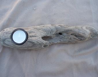 Driftwood Tea Light Candle Holder, beautiful handmade candle holder TL8