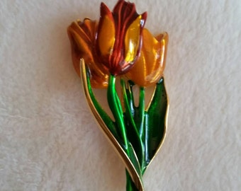 Museum of Fine Arts Vintage Tulip Brooch