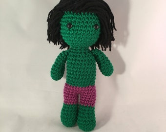 The Hulk Amigurumi Figure Doll