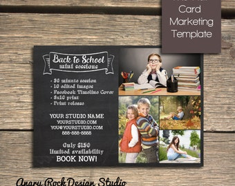 Back to School Mini Session - Photoshop Marketing Template - INSTANT DOWNLOAD