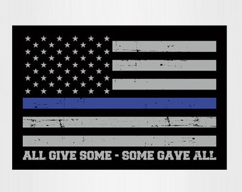 Combo thin blue line sticker 10 Pack