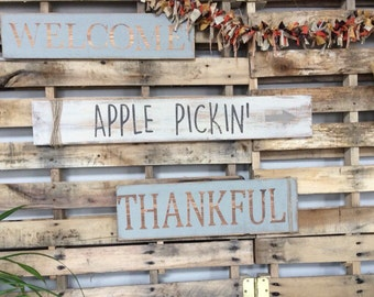 Apple pickin' || distressed sign