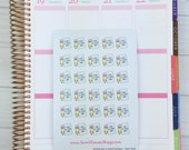 Itty Bitty Kawaii Back to School Countdown Stickers - Paper/pencil