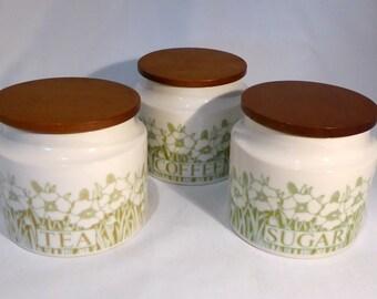Hornsea Fleur 3 x storage jars - original from the 1970s