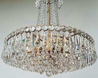 Vintage Updated Hollywood Regency Chandelier Style Lamp In