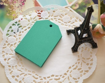 Handmade DIY Blank Large GREEN Gift Tags/Gift Wrapping Tags/15PCS