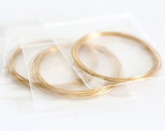 1522_ Wire 0.4 mm, Plated gold wire, Jewelry findings, Golden wire, Gold wire, Craft wire, Necklace supplies, Golden jewelry findings _2 m.