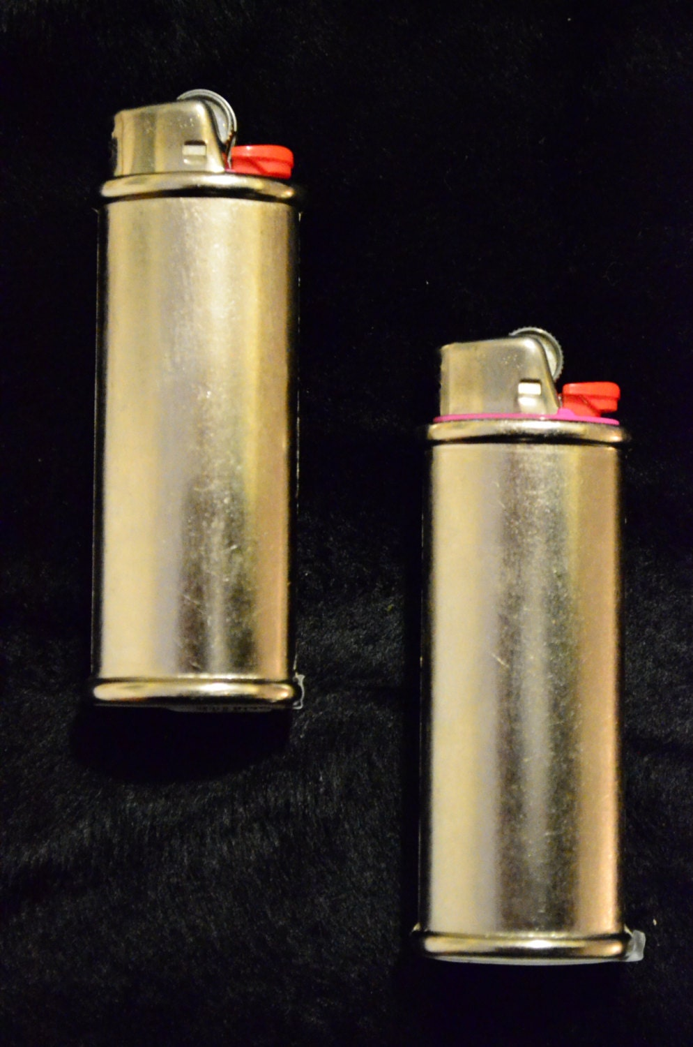 2 Pack Two Blank Bic Lighter Case Cover Holder Metal