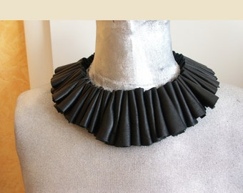 Black leather necklace - no postage will be calculated