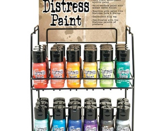 Set of 12 Ranger Tim Holtz Distress Paint Flip Cap 1oz #1