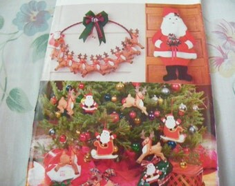 Vintage 1990 Sewing Pattern - Butterwick Pattern 5016 - Christmas:  Santa Ornaments, Wallhangings, and Doll