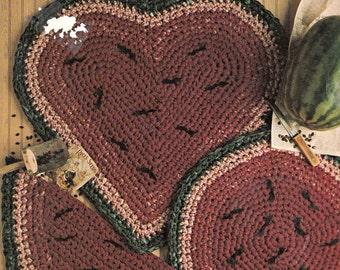 Leisure Arts Slice of Country Rugs to Crochet, Crochet Rug Patterns, Vintage Crochet Patterns, Crochet Rugs, Crochet Stitches, Crochet Ideas