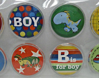 Boy-Themed Round Epoxy Scrapbooking Stickers, Scrapbooking Supplies, Scrapbooking Ideas, Scrapbook Albums, Scrapbook Layouts Scrapbook Pages
