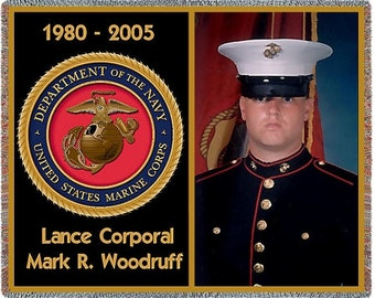 Military Blanket, Customized Photo Blankets, Marine Gifts, Photo Blanket, Soldier Gifts, Military Gifts, Gift For Men, Throw Blanket