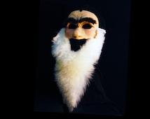 Grumpy Dwarf Mask. Handmade. Snow White. Ready to Ship. Hipster beard dwarf costume.