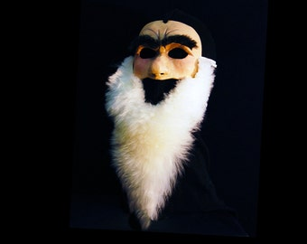 Grumpy Dwarf Mask. Handmade. Snow White. Ready to Ship. Hipster beard dwarf costume.