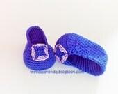 Manolo Blahnik style baby crochet booties, model Hangisi. Carrie Bradshaw to crochet shoes.