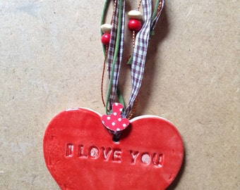 I love you - heart gift tag