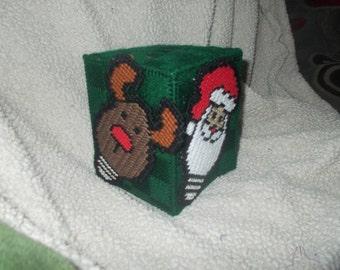Christmas light bulb tissue box holder