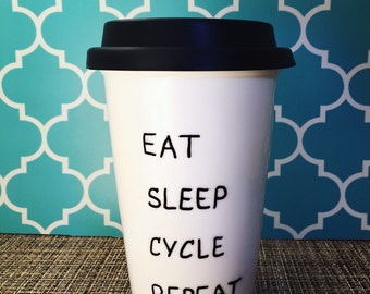 Cycling Bicycle Mug; customizable