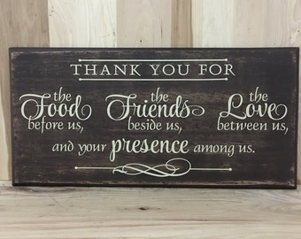 Thank you wood sign, wood sign scripture, Christian wall art, religious gift, confirmation gift, custom wooden sign, inspirational sign