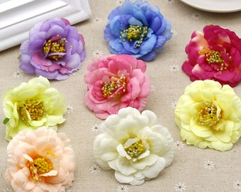 "20 Pcs Artificial Silk Flowers,2.55"",Hair Accessories Flower Supply,For Wedding Pomander Kissing Ball Table Centerpieces(153-81)"