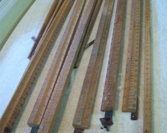 Antique 1940s curtain stretcher/Fabric stretcher/Vintage laundry decor/Farmhouse decor/Rustic decor/Photo prop