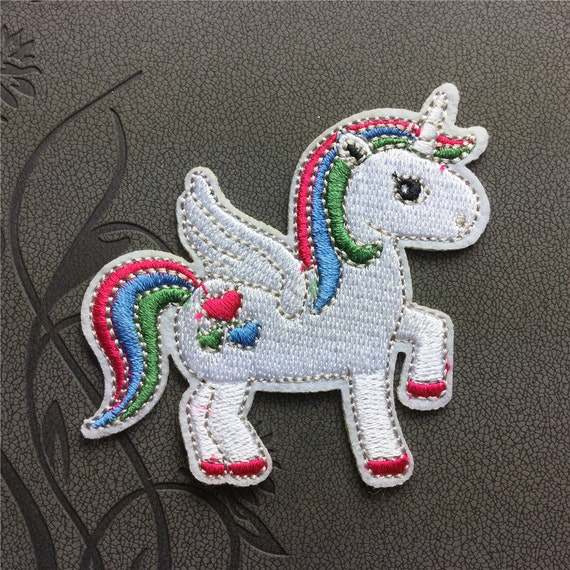 Unicorn patch embroidered patches iron on by