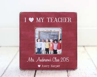 Teacher Gift Personalized Picture Frame from Student Class Teacher Frame Thank You Teachers Aid Assistant Preschool Nanny