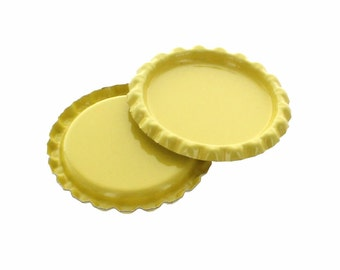 10 Caps - Flattened Lemon Bottle Caps