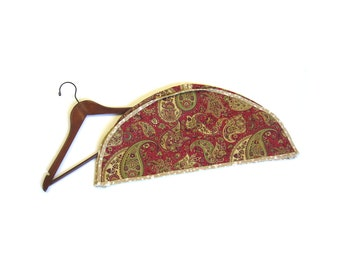 Garment cover Paisley red gold green beige Dust protector Shoulders cover Set of two or six