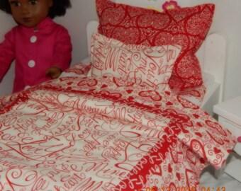 American Girl Bedding - Love