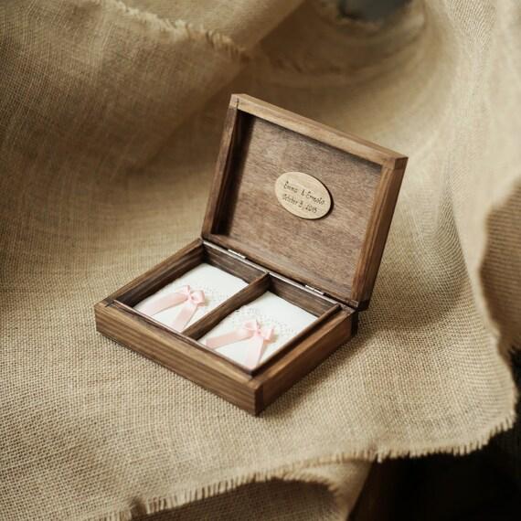 personalized wedding ring box rustic wooden ring box wedding