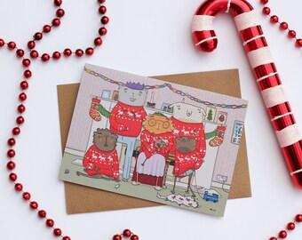 ON SALE - Awkward family Christmas card