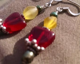 Glass Sunset  Earrings
