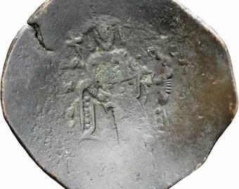 1143-1180 Manuel I Comnenus, Constantinople, Billon Aspron Trachy
