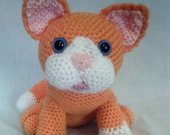 Crochet Cat - Ginger cat - Soft toy cat - Cat lovers gift - Handmade cat toy