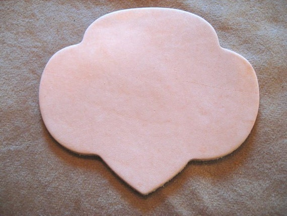 10 veg tan cowhide tooling leather trefoil shapes for girl for Leather shapes for crafts